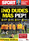 Portada diario Sport del 14 de Marzo de 2012