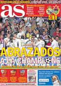 Portada diario AS del 15 de Marzo de 2012