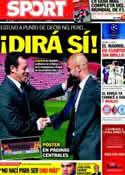 Portada diario Sport del 15 de Marzo de 2012