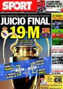 Portada diario Sport del 17 de Marzo de 2012