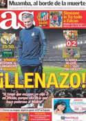 Portada diario AS del 18 de Marzo de 2012