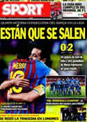 Portada diario Sport del 18 de Marzo de 2012