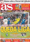 Portada diario AS del 19 de Marzo de 2012