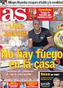 Portada diario AS del 20 de Marzo de 2012