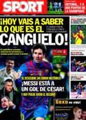Portada diario Sport del 20 de Marzo de 2012