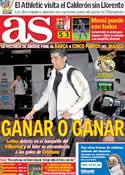 Portada diario AS del 21 de Marzo de 2012