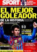 Portada diario Sport del 21 de Marzo de 2012