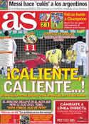 Portada diario AS del 22 de Marzo de 2012
