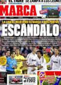 Portada diario Marca del 22 de Marzo de 2012