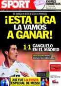 Portada diario Sport del 22 de Marzo de 2012