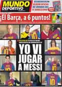 Portada Mundo Deportivo del 22 de Marzo de 2012