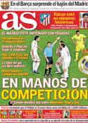 Portada diario AS del 23 de Marzo de 2012