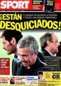 Portada diario Sport del 23 de Marzo de 2012