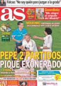 Portada diario AS del 24 de Marzo de 2012