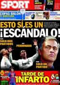 Portada diario Sport del 24 de Marzo de 2012