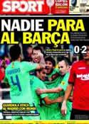 Portada diario Sport del 25 de Marzo de 2012