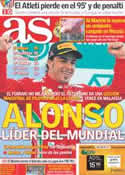 Portada diario AS del 26 de Marzo de 2012