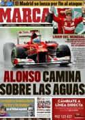 Portada diario Marca del 26 de Marzo de 2012