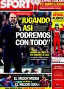 Portada diario Sport del 26 de Marzo de 2012