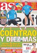 Portada diario AS del 27 de Marzo de 2012