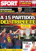 Portada diario Sport del 27 de Marzo de 2012