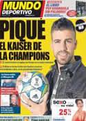 Portada Mundo Deportivo del 27 de Marzo de 2012