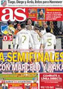 Portada diario AS del 28 de Marzo de 2012