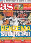 Portada diario AS del 29 de Marzo de 2012