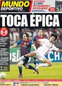 Portada Mundo Deportivo del 29 de Marzo de 2012