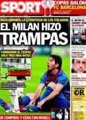 Portada diario Sport del 30 de Marzo de 2012