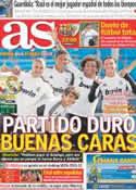 Portada diario AS del 31 de Marzo de 2012