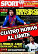Portada diario Sport del 31 de Marzo de 2012
