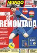 Portada Mundo Deportivo del 31 de Marzo de 2012