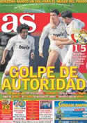 Portada diario AS del 1 de Abril de 2012