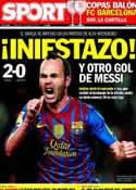 Portada diario Sport del 1 de Abril de 2012