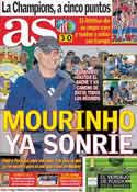Portada diario AS del 2 de Abril de 2012
