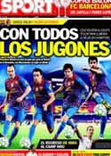 Portada diario Sport del 2 de Abril de 2012