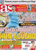 Portada diario AS del 3 de Abril de 2012