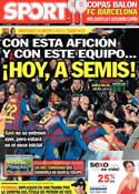 Portada diario Sport del 3 de Abril de 2012