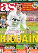 Portada diario AS del 4 de Abril de 2012