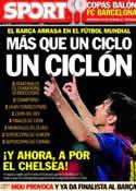 Portada diario Sport del 5 de Abril de 2012