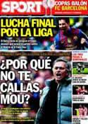 Portada diario Sport del 6 de Abril de 2012