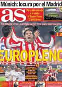 Portada diario AS del 7 de Abril de 2012
