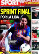 Portada diario Sport del 7 de Abril de 2012