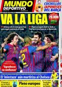 Portada Mundo Deportivo del 7 de Abril de 2012