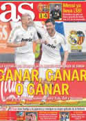 Portada diario AS del 8 de Abril de 2012