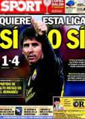 Portada diario Sport del 8 de Abril de 2012