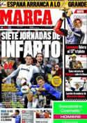 Portada diario Marca del 9 de Abril de 2012