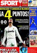 Portada diario Sport del 9 de Abril de 2012