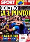 Portada diario Sport del 10 de Abril de 2012